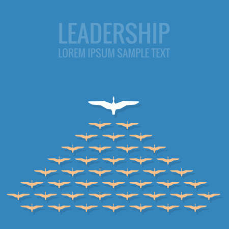 successful leadership: leadership concept flat design