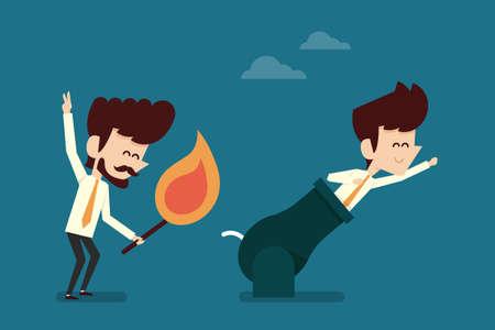 partnerschap zakenman begrip plat ontwerp