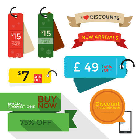 sale tags price tags flat designs vector royalty free cliparts