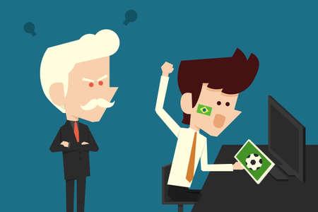 habits: goofing businessman