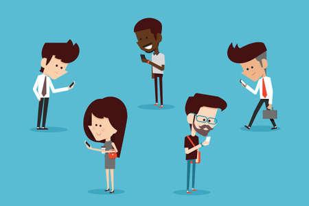personas hablando: estilo de vida moderno dise�o plano de dibujos animados Vectores
