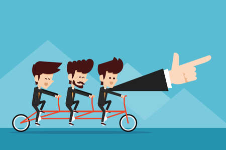 moving forward: Teamwork concept. Illustration