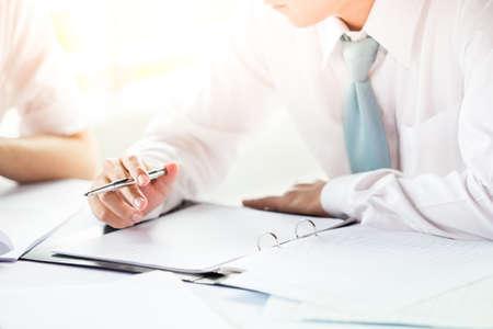 Business meeting- brainstorming. 스톡 콘텐츠