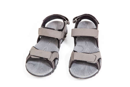 Outdoor shoes on white background.