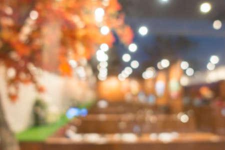 Blurred Japanese restaurant for background. Stock Photo