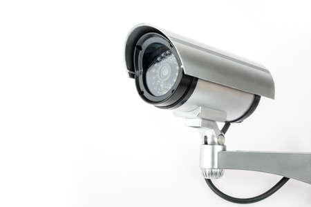 CCTV camera isolated on white background. Foto de archivo