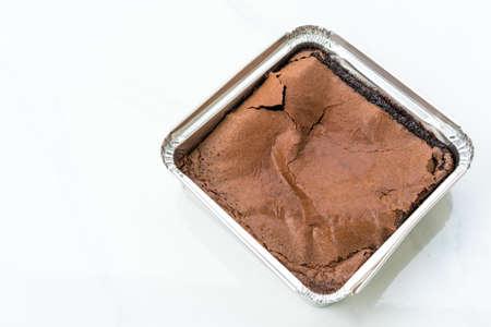 Dark chocolate brownies.