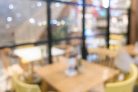 Restaurant blurred background.