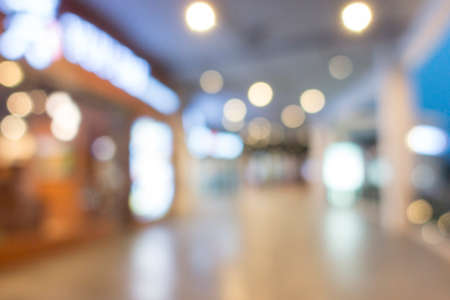 Defocused of shopping mall for background.