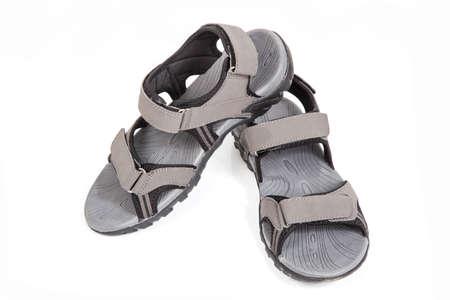 Outdoor shoe on white background. Stock Photo