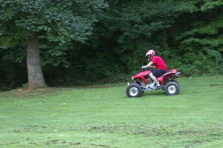 ATV rider Stock Photo