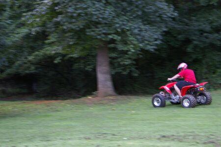 ATV riding Stock Photo