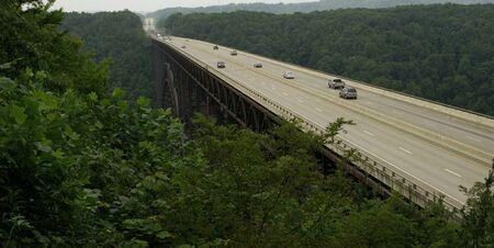 Overlook of bridge