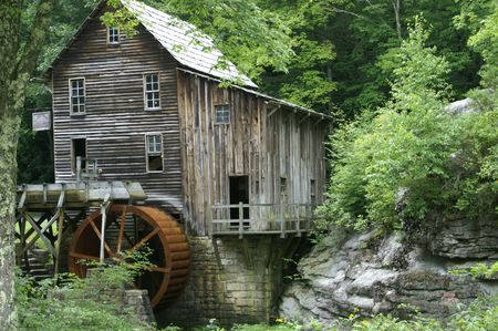 A grist mill in Virginia