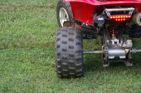 Movig wheel of an ATV
