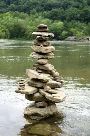 A stack of rocks Stock Photo