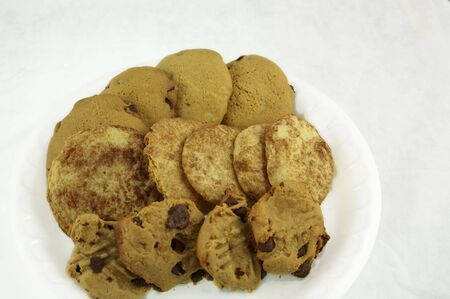 A plate of different types of cookies Stock Photo