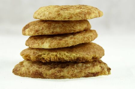 A stack of snickerdoodle cookies Stock Photo