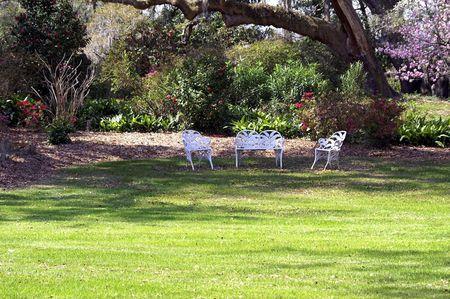 Garden rest stop