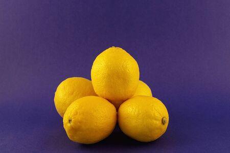 A horizontal shot of yellow lemons Stock Photo - 781304