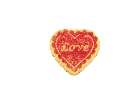 A valentine cookie isolated on a white background Stock Photo - 781298