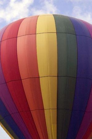 A closeup shot of a hot air balloon.