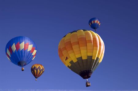 An image of multiple hot air balloons.