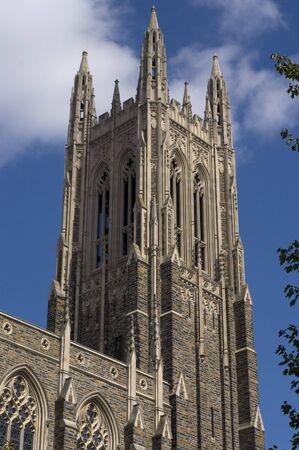 An image of Duke University chapel tower.