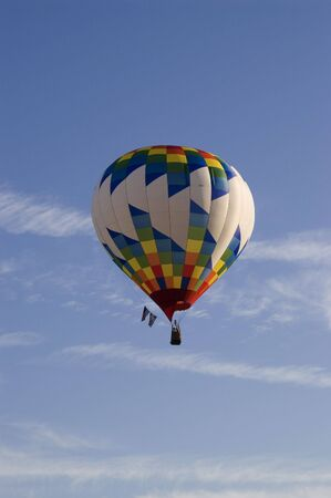 An image of a balloon floating overhead. Stock Photo