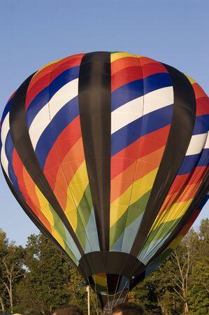 An image of a hot air balloon. Stock Photo