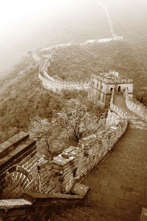 mongols: Great Wall at Mutianyu, China