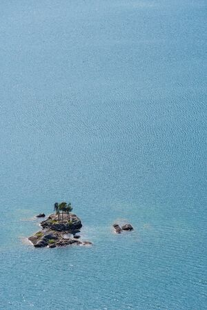 Small Rocky Islands in the middle of a lake