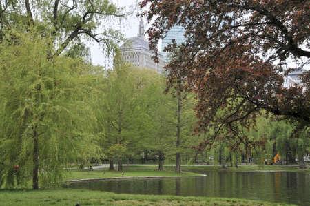 The lake at the Boston Common and Public Garden in Boston
