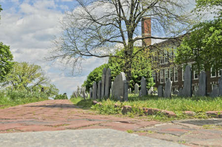 Grave stones in Copp s Hill Burying Ground in Boston, Massachusetts Stock fotó - 19460372