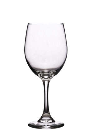 Clear glass isolated on a pure white background