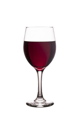 Glass filled with red wine isolated on a pure white background Stock fotó - 20895073