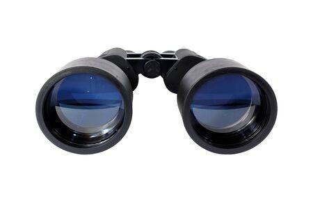 large black binoculars isolated on white Imagens