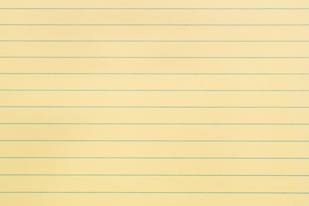 Blank Yellow Paper Page With Lines Stock Photo, Picture And Royalty ...