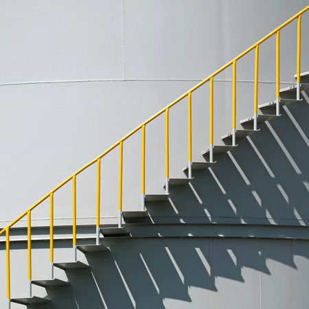 Metal Stairs On The Side Of An Industrial Container Stock Photo   44688668
