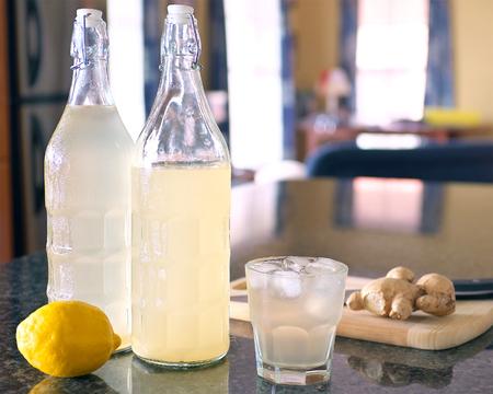 homemade organic ginger ale