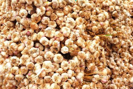 garlic at a local street market