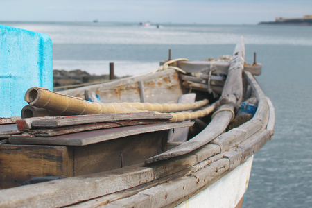 old abandoned fishing boat