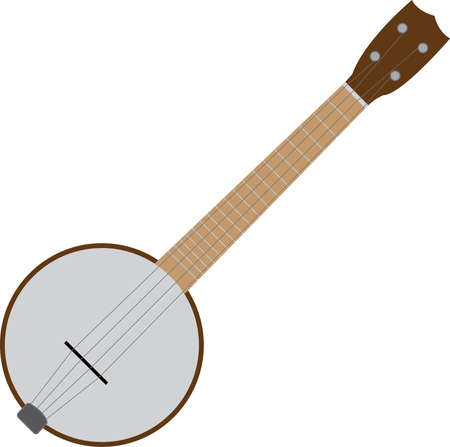 folk music: 4 string banjo Illustration