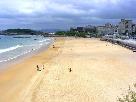 santander: El Sardinero beach. Santander, Spain.