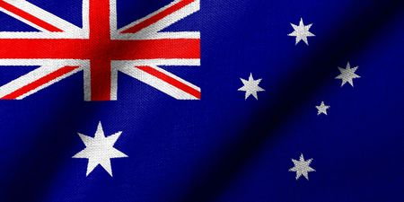 Realistic 3D flag of Australia with fabric texture waving. Stock Photo - 6684345