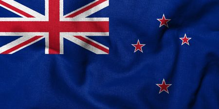 Realistic 3D flag of New Zealand with fabric texture. Stock Photo - 6790135