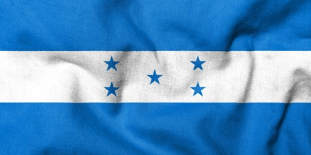Realistic 3D flag of Honduras with fabric texture.