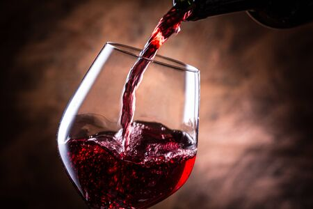 Pour the red wine