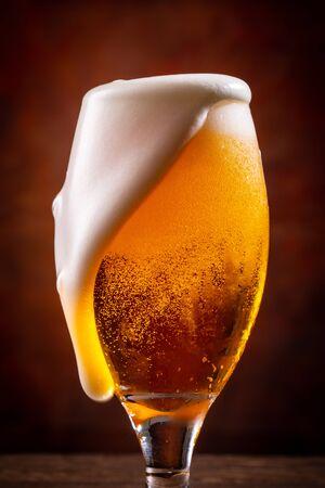 Enjoy beer at the restaurant
