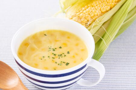 Corn potage soup